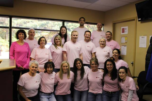 Pink power! Our friends from ATI Pike Creek raised $500 for DBCC!